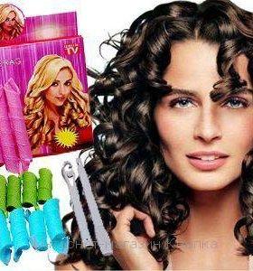 бигуди magic leverage на длинные волосы