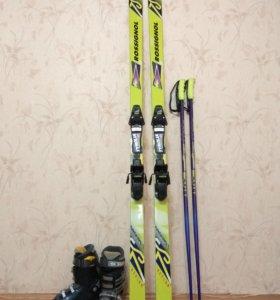 Горные лыжи Rossignol 7S + ботинки+палки
