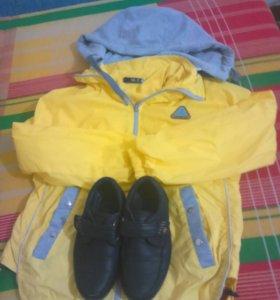 Ветровка и туфельки на мальчика