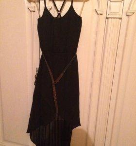 Платье , б-у 1раз , размер s , шифон