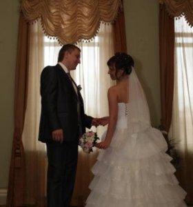 """Свадебное платье """"Николетта""""+подарок белый зонт"""