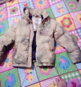 Зимняя куртка размер 44 подростковая