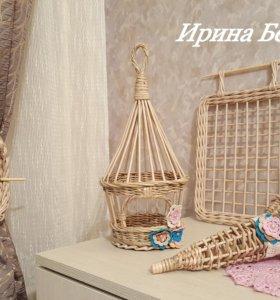 Плетёный набор для спальни (в наличии).