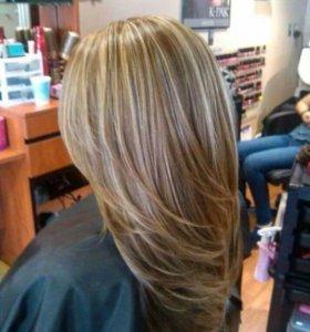 Стрижка,укладка,лечение волос,