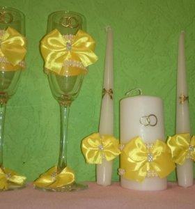 Набор бокалы+набор свечей