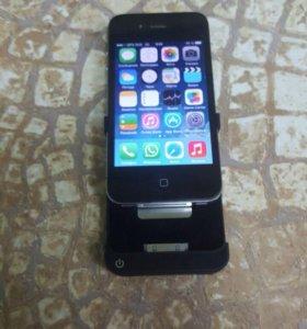 Айфон 4 на 32 гига чехол зарядка + док станция