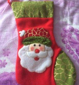 Носок новогодний подарочный