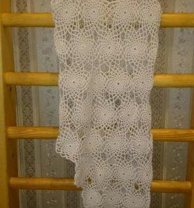 Пляжное платье вязаное