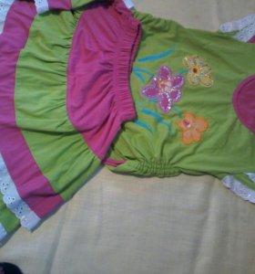Костюмчик для девочки от 4 лет