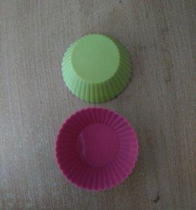Силиконовые формачки для кексов.