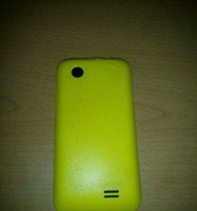 Lenovo A369i     жёлтая крышка ,без зарядного.