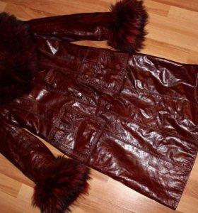 Пальто (натуральная кожа и мех)