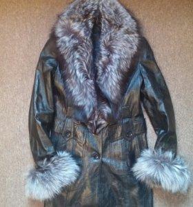 Френч пиджак кожаный