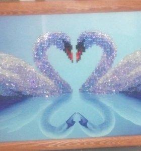 Лебеди мозаика 3d