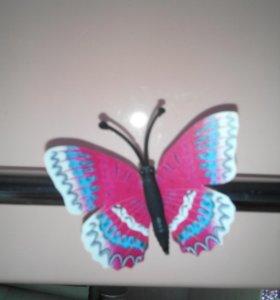Магнитик  на холодильник бабочка