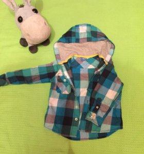 Рубашка с капюшоном 92 см