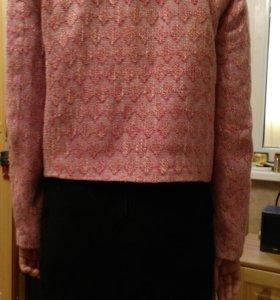 Пиджак шанелька и юбка замша