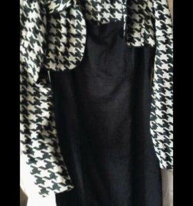 Мягкое ,теплое платье с жилеткой