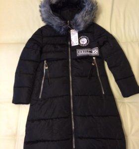Зимняя куртка удлинённая
