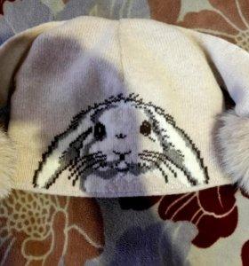 Классная теплая шапка натуральная в идеале