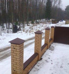 Колпаки на забор
