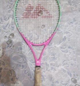 Ракетка детская для тенниса с чехлом.