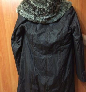 Тёплая куртка с кроличьим подкладом