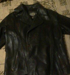 кожанная куртка-пиджак с подкладкой