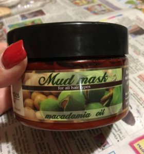 Маска для волос грязевая  с маслом макадимии