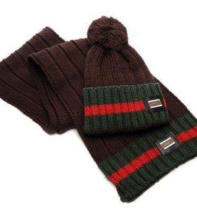Шапка, шарф Gucci,комплект