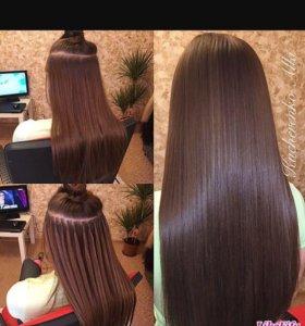 Горячее капсульное наращивание волос