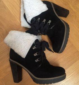 Ботильоны ботинки зимние замша