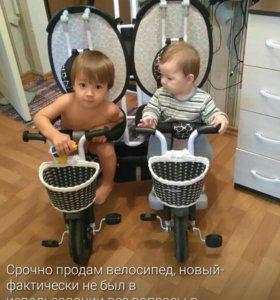 Велосипед двойной детский