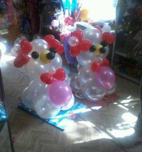 Мишка из воздушных шаров