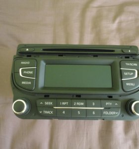 Магнитола Kia Ceed JD с Bluetooth.