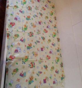 Простыня на детскую кровать