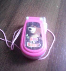 Игрушечный телефон Маша и Медведь
