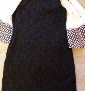 Платье с жакетом.