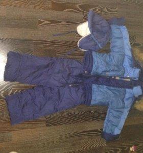 Зимний комплект( куртка+ комбинезон+ шапка