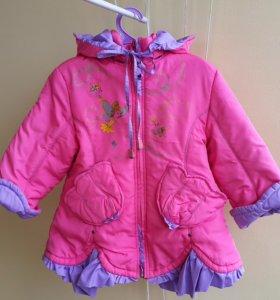 Пальто куртка на синтеп.демисезон, на 1-2.5 года