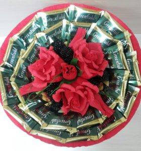 Букет с чаем и конфетами