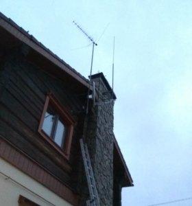 Установка и ремонт эфирных  цифровых антенн