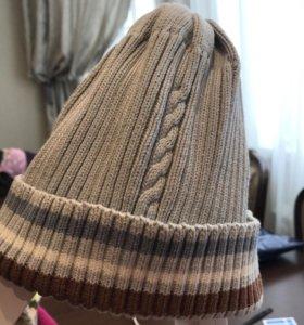 Хлопковая шапка на весну 50-52 размер