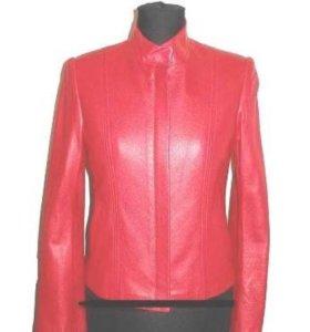 Кожаная итальянская куртка
