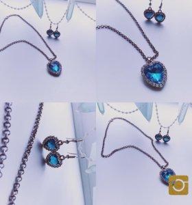 Ожерелье и серёжки )