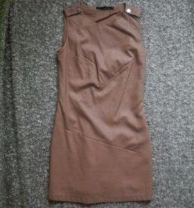 Платье Befree кожаное S