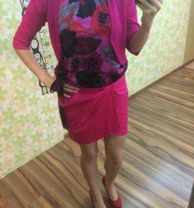 Юбка+блуза+болеро 42-44