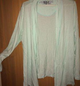 Кардиган и блуза 48-50