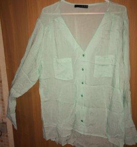 Блуза и кардиган 48-50