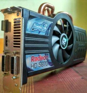 Игровая видеокарта PowerColor Radeon HD5870 PCS+